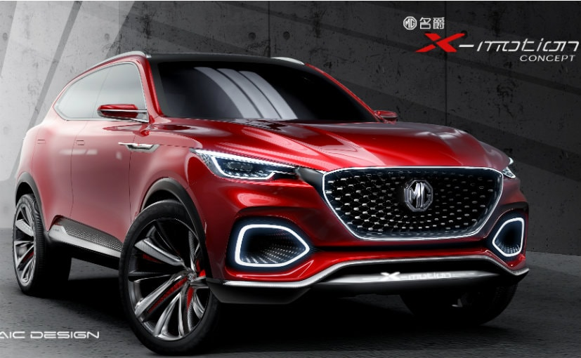 The MG X-Motion is based on the Roewe RX8 SUV which currently sells in China