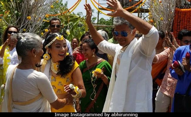 Inside Milind Soman And Ankita Konwar's Mehendi In Alibaug