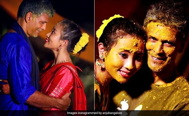 Wedding Album: हल्दी-संगीत से मेहंदी तक, 25 साल छोटी गर्लफ्रेंड को पत्नी बनाने जा रहे मिलिंद सोमन