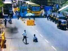 मुंबई: बिना टोल दिये भागने के चक्कर में कार चालक ने टोलकर्मी को मारी टक्कर, कैमरे में कैद