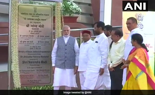 PM Modi inaugurates Dr Ambedkar National Memorial