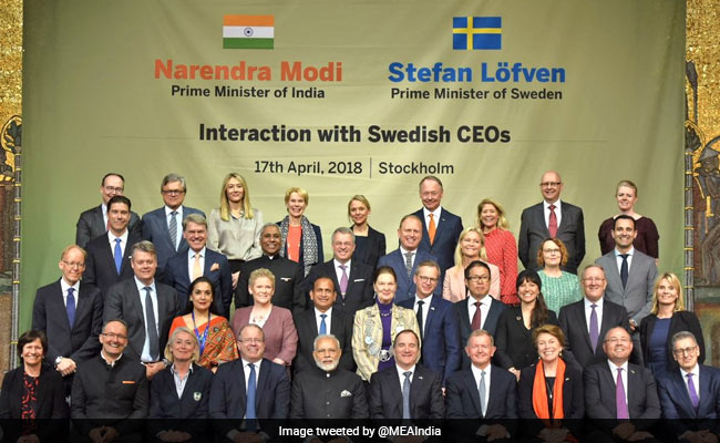 PM Holds Roundtable With Top Swedish CEOs, Asks Them To Invest In India
