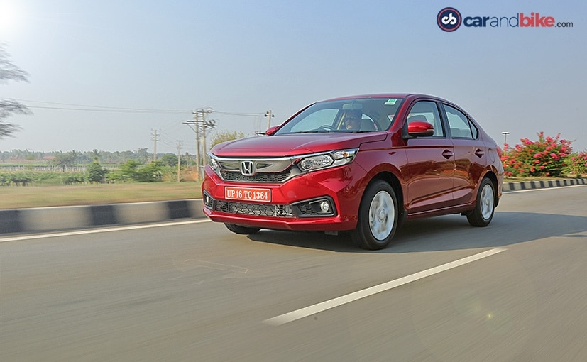 Sales of the Honda Amaze had dropped by 39 per cent in May 2019.
