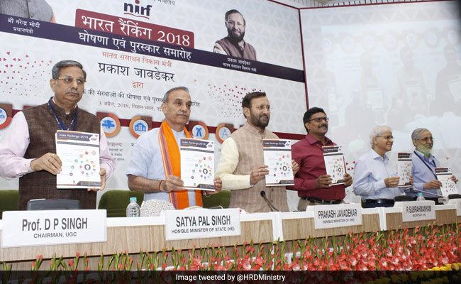 Prakash Javadekar Releases NIRF India Rankings 2018; Check Updates Here
