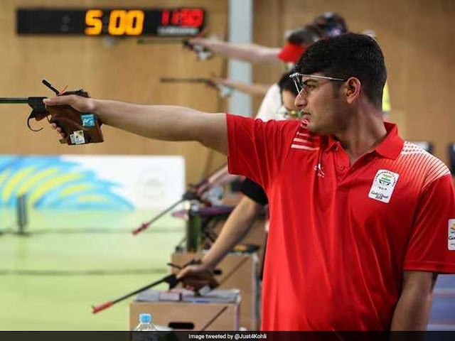 Commonwealth Games 2018: Om Mitharwal Wins Bronze In Mens 50m Pistol