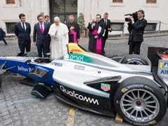 Pope Francis Blesses Environmentally-Friendly Race Car