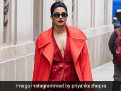 Priyanka Chopra, In Fiery Red, Turns The Streets Of New York Into A Runway