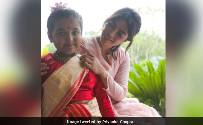 When A 7-Year-Old Girl Showed Priyanka Chopra How To Wear Mekhla Chador