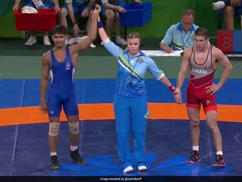 Commonwealth Games 2018: Wrestler Rahul Aware Wins Gold In Mens Freestyle 57kg