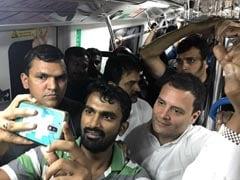 'आम आदमी स्टाइल' में राहुल का चुनाव प्रचार, मेट्रो में चढ़े और सड़क पर आइसक्रीम भी खाई