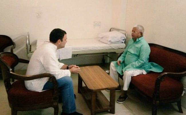 लालू से मुलाकात पर अमित शाह का हमला, कहा- राहुल गांधी के दो चेहरे हैं