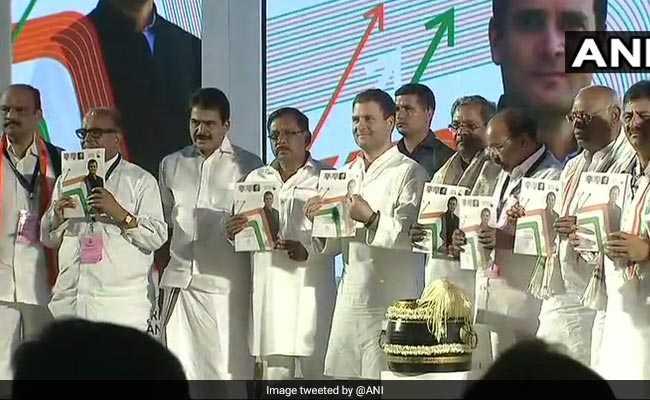 कर्नाटक में कांग्रेस का घोषणा पत्र जारी, राहुल ने कहा- यह लोगों के मन की बात है, हमने जो कहा, वह किया