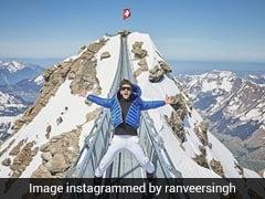 रणवीर सिंह की वेकेशन फोटोज़ : कभी कुत्तों के साथ की राइड तो कभी चढ़े पहाड़ पर