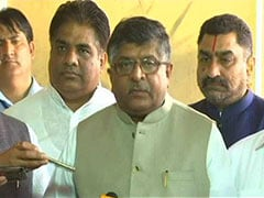 "Ravi Shankar Prasad Accuses Congress, SP, BSP Of ""Fanning Dalit Violence"""
