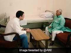 AIIMS में भर्ती लालू यादव से मिलने पहुंचे राहुल गांधी, सेहत का हाल जाना