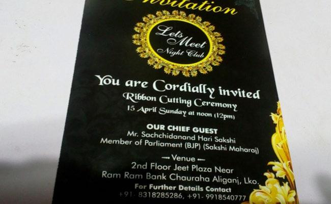 sakshi maharaj nightclub inauguration ndtv