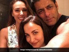 Elli AvrRam Posts Pic With Salman Khan And His Rumoured Girlfriend Iulia Vantur. Later Deletes It