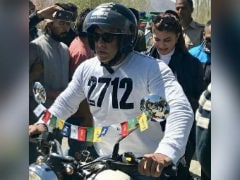 Race 3 Actor Salman Khan Goes Riding In Leh On The Royal Enfield Classic 350