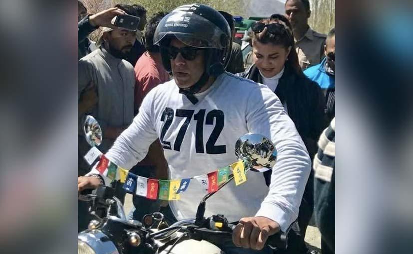 Race 3 Actor Salman Khan Goes Riding In Leh On The Royal