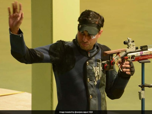 Commonwealth Games 2018: Sanjeev Rajput Smashes Games Record To Claim Gold In 50m Rifle 3 Positions