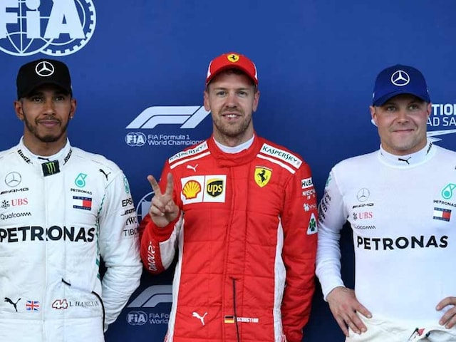 Azerbaijan GP: Ferraris Sebastian Vettel On Pole, Mercedes Lewis Hamilton Second
