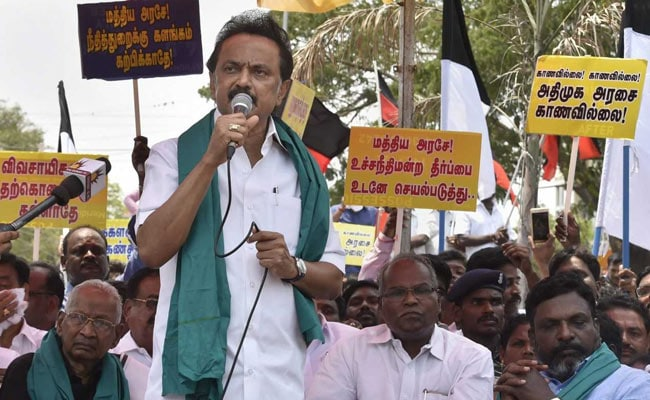 DMK Holds Mock Assembly On Tuticorin Issue