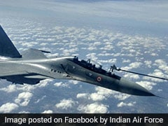 Air Force Sukhoi Fighter Jet Refuel Mid-Air In Big Wargames Exercise