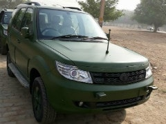 Tata Safari Storme For The Indian Army Looks Mean In Matte Green