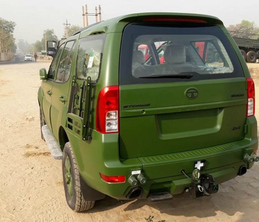 Tata Safari Storme For The Indian Army Looks Mean In Matte