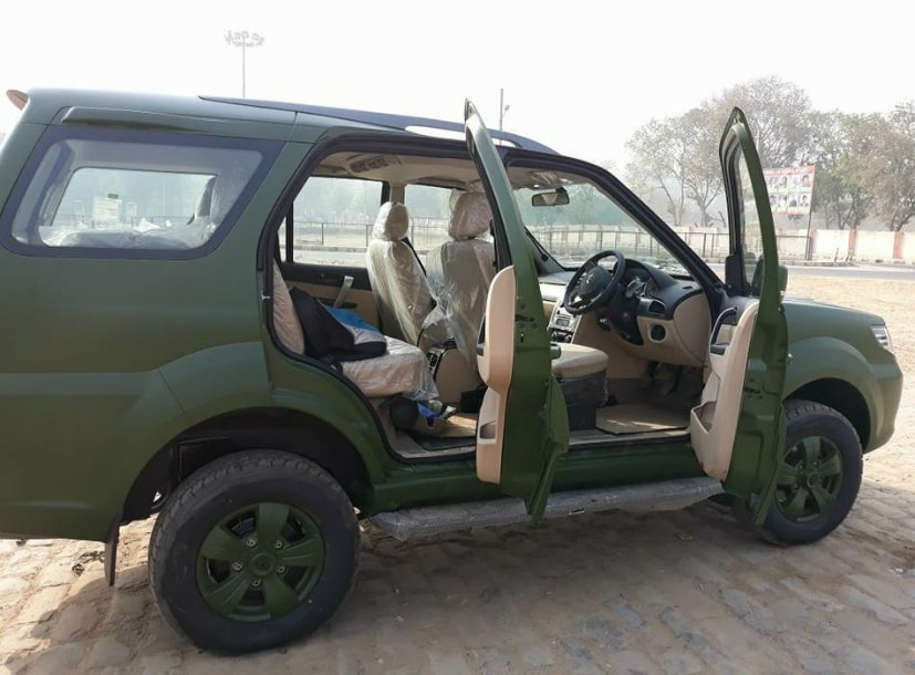 tata safari storme army version