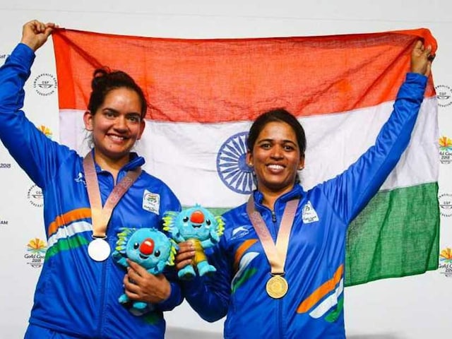 CWG 2018: Tejaswini Sawant Shatters Games Record To Win Gold, Anjum Moudgil Bags Silver In Womens 50m Rifle 3 Positions