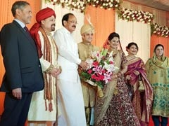 At IAS Topper Couple's Grand Delhi Reception, Vice President Among Guests