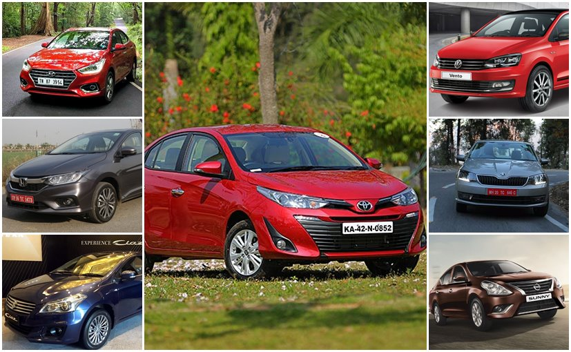 The Toyota Yaris is the most expensive compact sedan on offer in India