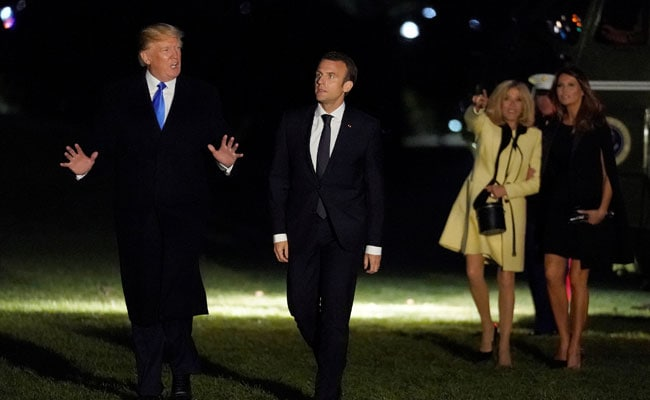 France's Emmanuel Macron Visits Donald Trump As Iran Nuclear Deal Hangs In Balance