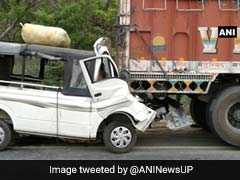 At Least 12 Killed As Mini Van Rams Into Truck On National Highway 24