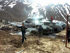 Air Force Helicopter Crashes While Landing Near Kedarnath Temple. Caught On Camera