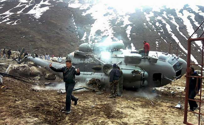 MiG 17 chopper crashes near Kedarnath, narrow escape for passengers