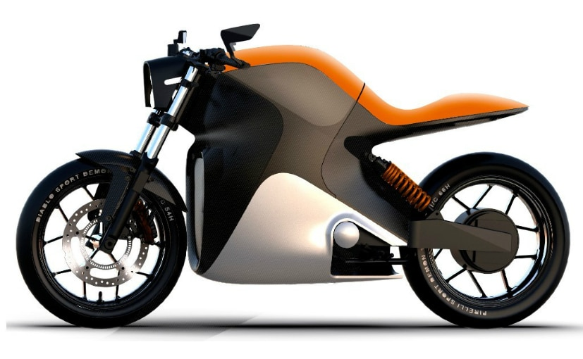 VanguardSpark has only released sketches of the electric motorcycle