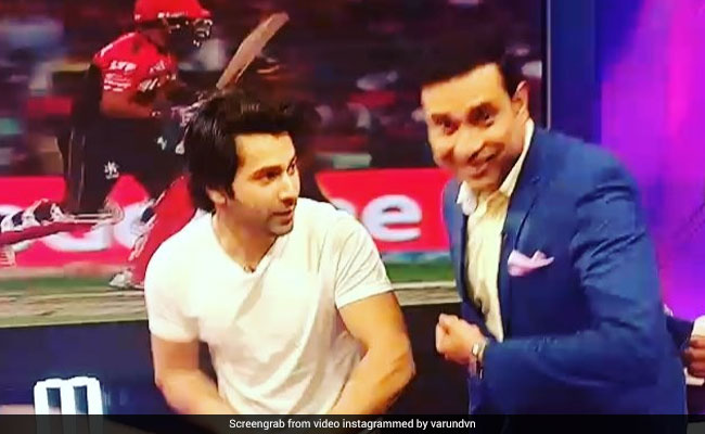 IPL 2018: लक्ष्मण से क्रिकेट के गुर सीखते दिखे वरुण धवन, ऐसे चलाया बल्ला