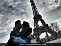 Vatsal Sheth And Ishita Dutta Kiss Under The Eiffel Tower In Trending Pic