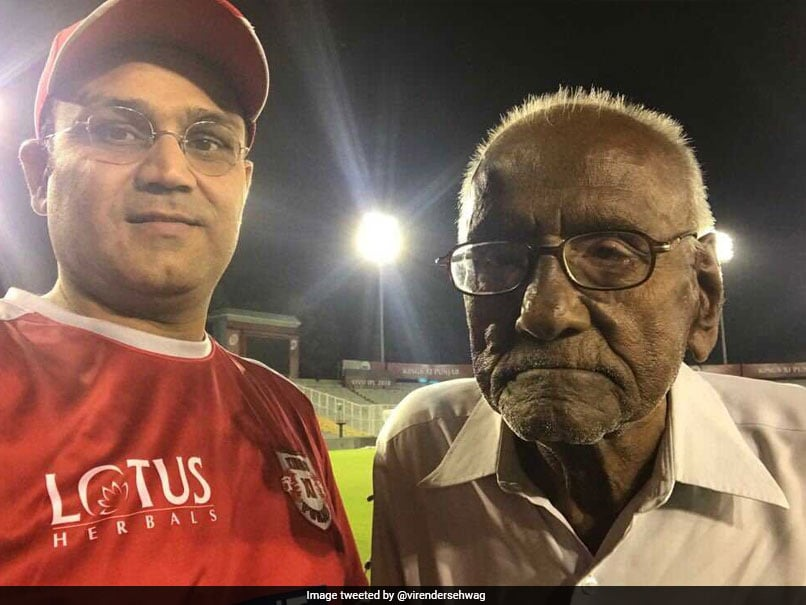 IPL 2018: Virender Sehwag Meets His 93-Year-Old Fan. In Pictures