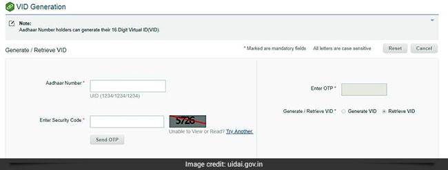 virtual id aadhaar uidai website