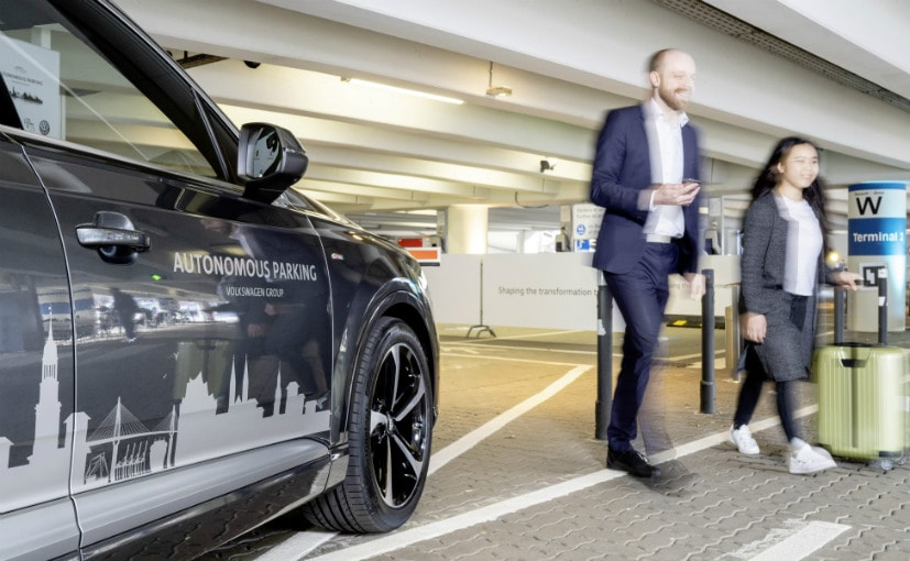 The demonstration of autonomous parking are currently on at the Hamburg Airport