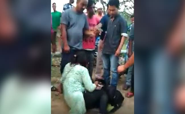 On Video, Woman Kicked, Punched In Meghalaya By A Group Of Men