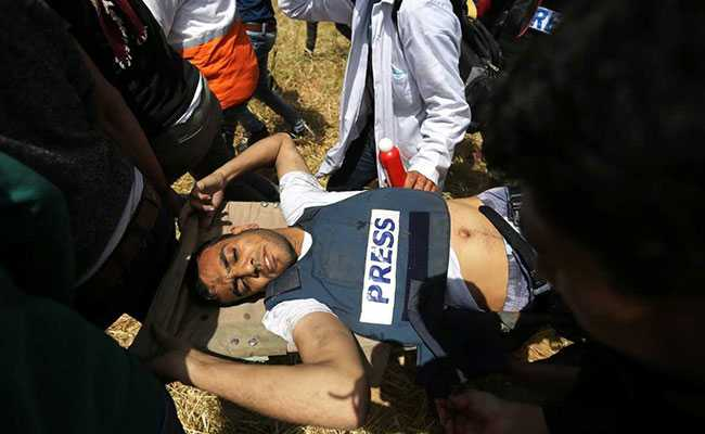 He Was Wearing Vest Marked 'PRESS', Was Shot Dead At Gaza Protest