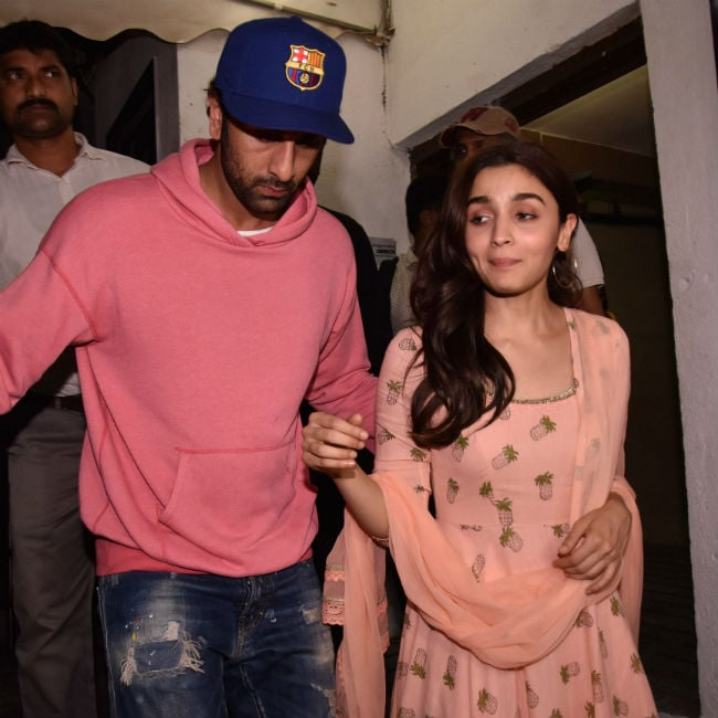 Alia Bhatt blushed when asked about co-star Ranbir Kapoor