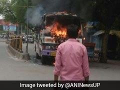 इलाहाबाद में दिनदहाड़े वकील की गोली मारकर हत्या, विरोध में आगजनी