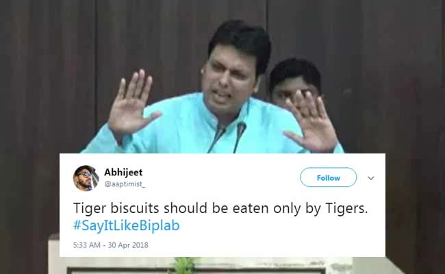 'Only Cats For CAT Exam': Twitter 'Says It Like Biplab' After Tripura Chief Minister's Gaffe