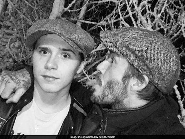 David Beckham Gets An Emotional Birthday Surprise From Son Brooklyn