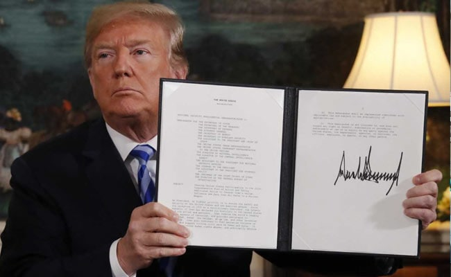 Trump Pulls United States Out Of Iran Nuclear Deal, Calling Pact 'An Embarrassment'